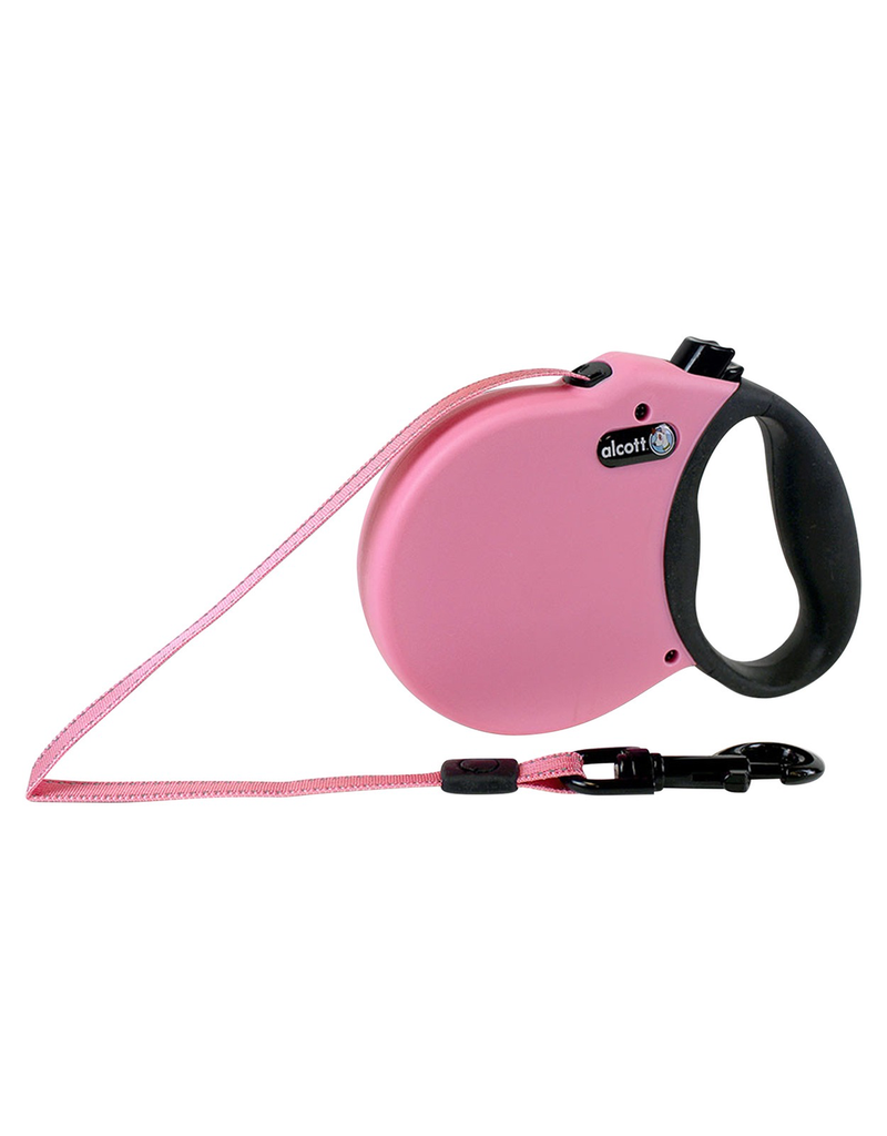 ALCOTT (W) Adventure Retractable Leash - Pink - Medium
