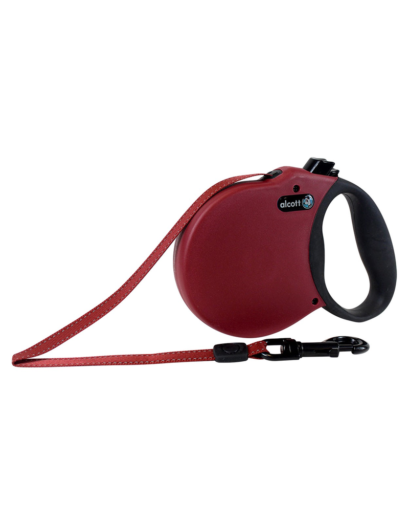 ALCOTT (W) Adventure Retractable Leash - Red - Large
