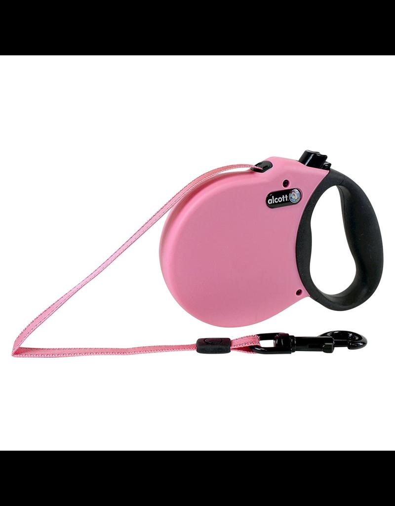 ALCOTT (W) Adventure Retractable Leash - Pink - Large