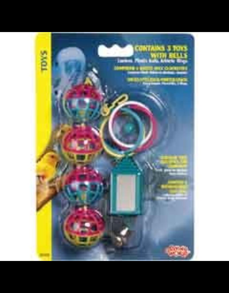 LIVING WORLD LW Bird 3 Toys Assortment #1 - Value Pack