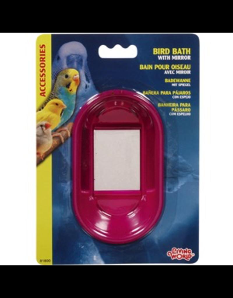 LIVING WORLD (D) Living World Oval Bird Bath with Mirror