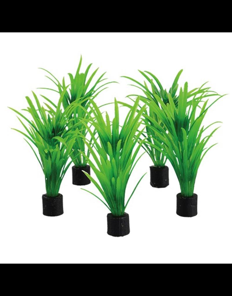 UNDERWATER TREASURES UT 5PK MINI PLANT GREEN TALL GRASS