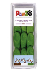 """(D) PAWZ DOG BOOTS Tiny-Apple Green (For Paws up to 1"""")"""