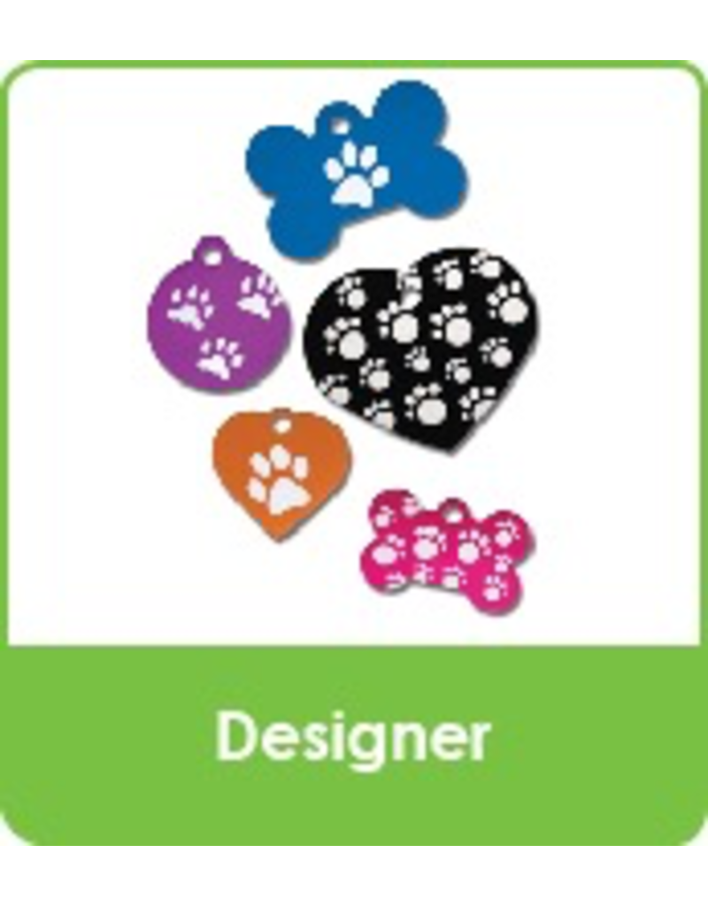 Designer & Paw Shaped (one side engraving only)