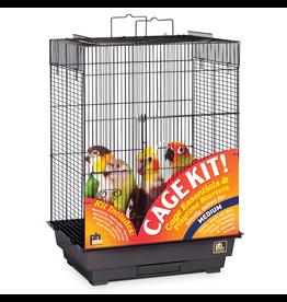 "PREVUE HENDRYX Prevue Hendryx Square Roof Bird Cage Kit - Black - 18"" x 14"" x 23"""