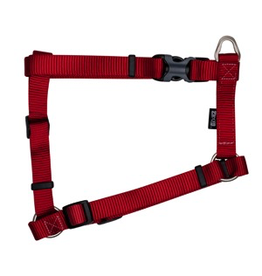 """ZEUS Zeus Nylon Dog Harness - Deep Red - Large - 2 cm x 45-70 cm (3/4"""" x 18""""-27"""")"""