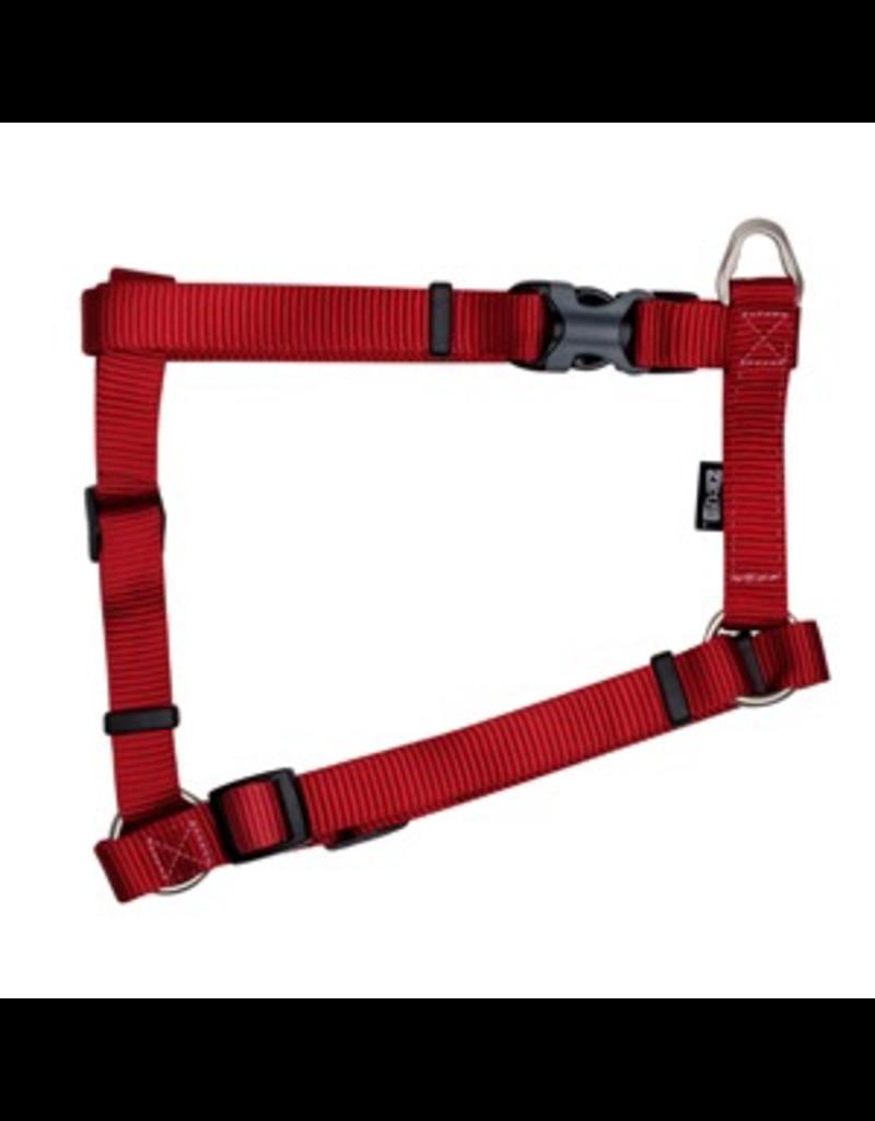 "ZEUS Zeus Nylon Dog Harness - Deep Red - XLarge - 2.5 cm x 61-100 cm (1"" x 24""-39"")"