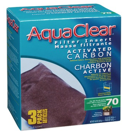 AQUACLEAR (W) AquaClear 70 Activated Carbon Filter Insert 3 pack, 420 g (14.8 oz)