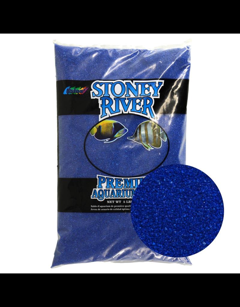 ESTES Stoney River Premium Aquarium Sand - Blue - 5 lb