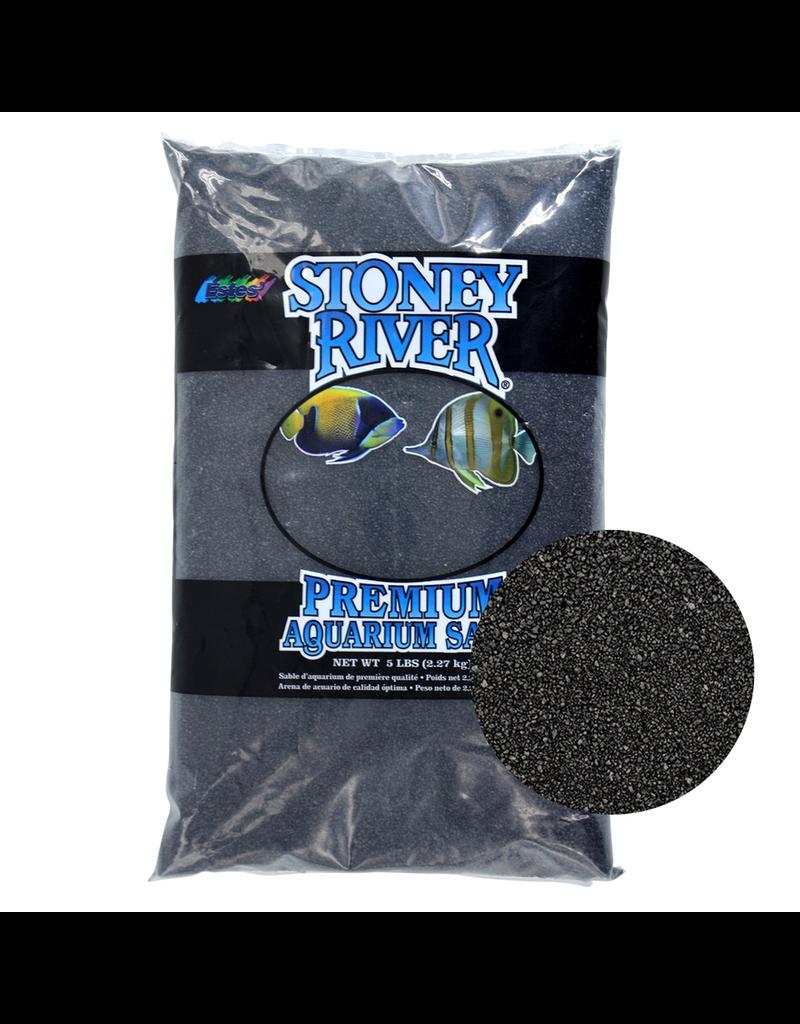 ESTES Stoney River Premium Aquarium Sand - Black - 5 lb