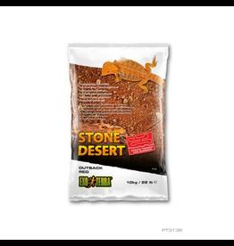 EXO TERRA (W) Exo Terra Stone Desert Substrate - Outback Red Stone - 10 kg (22 lbs)