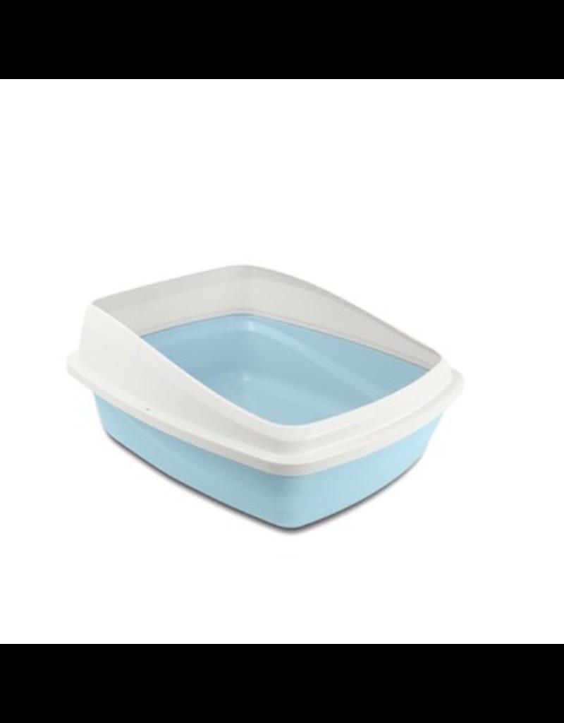 CAT IT Catit Cat Pan with Removable Rim - Blue & Cool Grey - Medium - 38 x 48 x 22 cm (15 x 18.9 x 8.6 in)