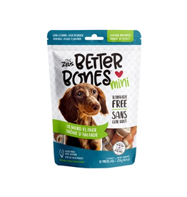ZEUS (W) Zeus Better Bones - Peanut Butter Flavor - Chicken-Wrapped Mini Bones - 12 pack