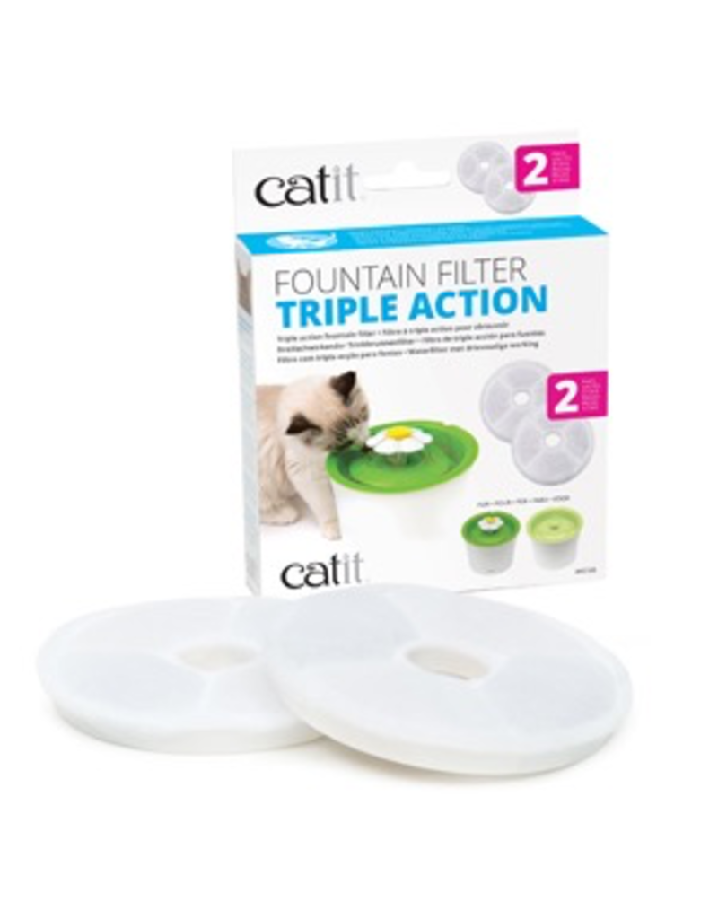 CAT IT Catit Triple Action Fountain Filter - 2 pack