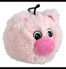 "ANIMAL TREASURES AT EZ Squeaky Plush Toy - Pig - 4"""