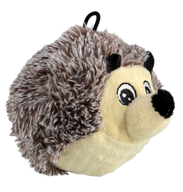 "ANIMAL TREASURES AT EZ Squeaky Plush Toy - Hedgehog - 4"""