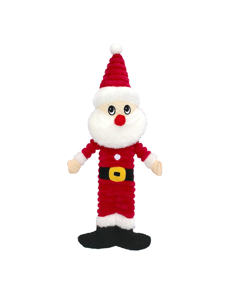 "ANIMAL TREASURES (D) AT X-Mas Plush Dog Toy - Santa - 12"""