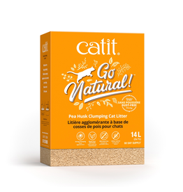 CAT IT (W) Catit Go Natural! Pea Husk Clumping Cat Litter - Natural - 14 L box