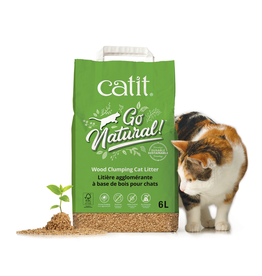 CAT IT (W) Catit Go Natural! Wood Clumping Cat Litter - 15 L bag