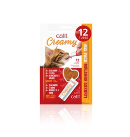 CAT IT Catit Creamy Lickable Cat Treat - Assorted Multipack - 12 pack