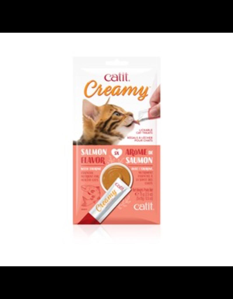 CAT IT Catit Creamy Lickable Cat Treat - Salmon Flavour - 5 pack