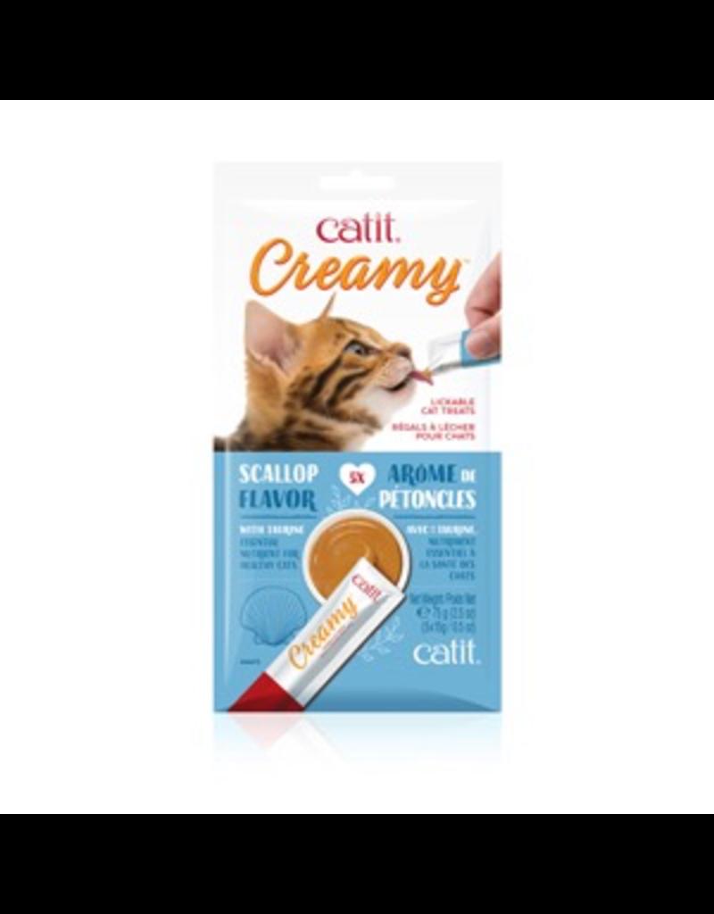 CAT IT Catit Creamy Lickable Cat Treat - Scallop Flavour - 5 pack
