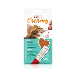 CAT IT Catit Creamy Lickable Cat Treat - Tuna Flavour - 5 pack