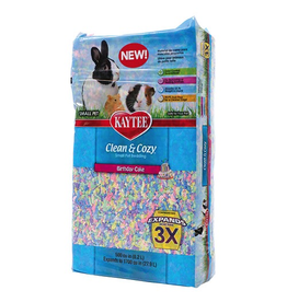 KAYTEE Clean and Cozy Small Pet Bedding - 500 cu in - Birthday Cake