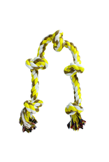 """ANIMAL TREASURES AT Coloured 5 Knot Rope Toy - X-Large - 36"""""""