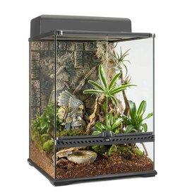 "EXO TERRA Exo Terra Aztec Glass Terrarium, Small, Tall, 45 x 45 x 60 cm (18 x 18 x 24"")"