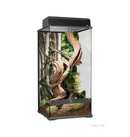 "EXO TERRA Exo Terra Natural Glass Terrarium - Small - X-Tall - 45 x 45 x 90 cm (18"" x 18"" x 36"")"