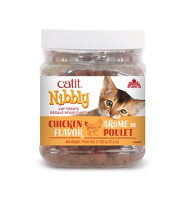 CAT IT Catit Nibbly Cat Treats - Chicken Flavour - 350 g (12.3 oz) jar