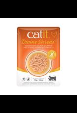 CAT IT Catit Divine Shreds - Chicken with Salmon & Pumpkin - 75g Pouch