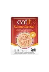 CAT IT Catit Divine Shreds - Chicken with Tuna & Carrot - 75g Pouch