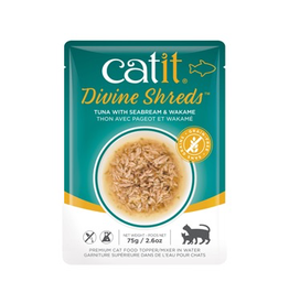 CAT IT Catit Divine Shreds - Tuna with Seabream & Wakame - 75g Pouch
