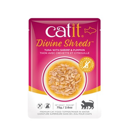 CAT IT Catit Divine Shreds - Tuna with Shrimp & Pumpkin - 75g Pouch