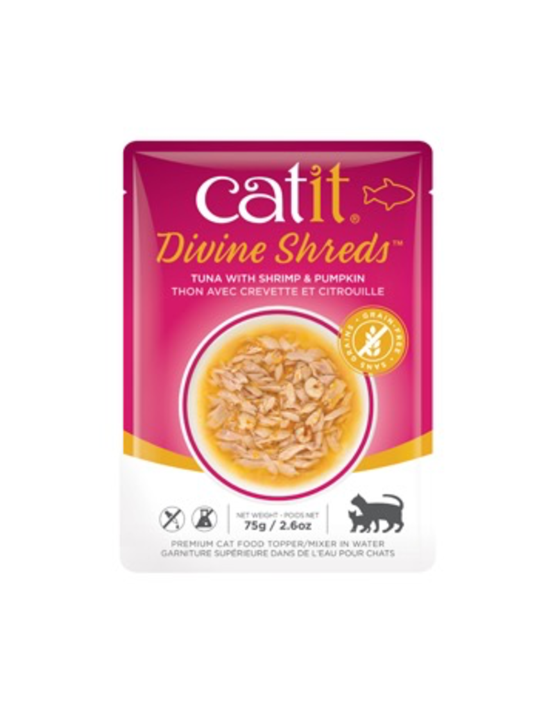 CAT IT Catit Divine Shreds - Tuna with Shrimp & Pumpkin - 75g Pouch