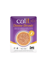CAT IT Catit Divine Shreds - Tuna with Shirasu & Sweet Potato - 75g Pouch