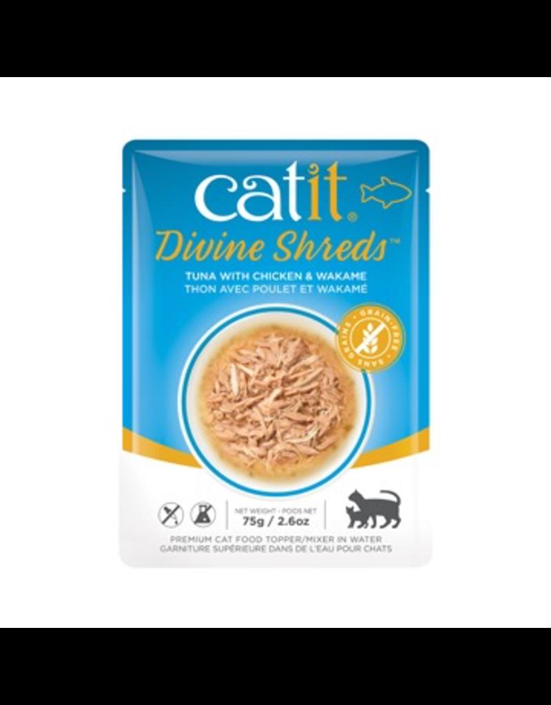 CAT IT Catit Divine Shreds - Tuna with Chicken & Wakame - 75g Pouch