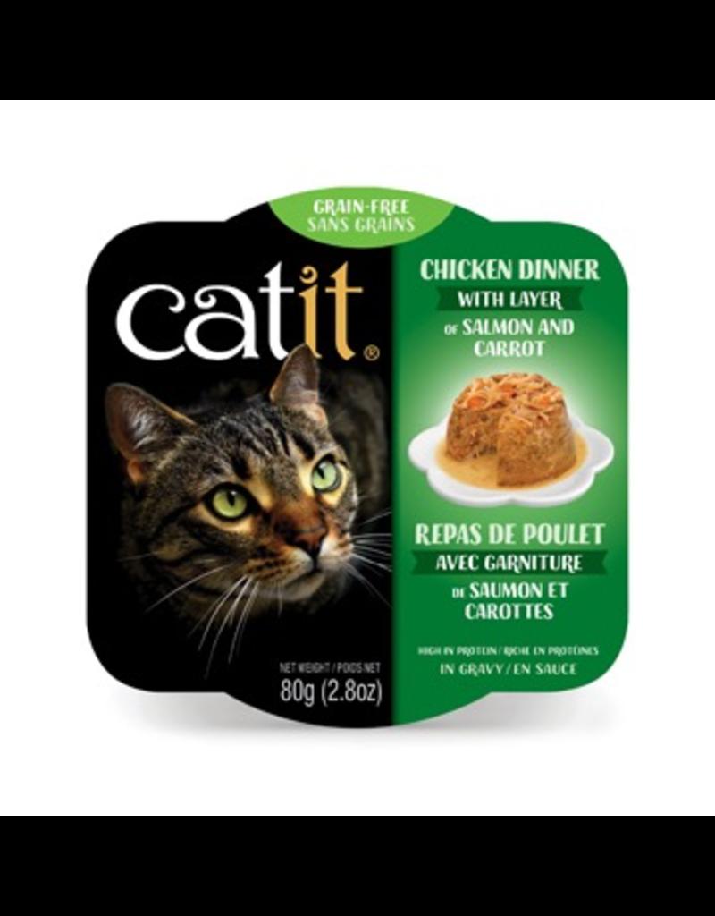 CAT IT Catit Chicken Dinner with Salmon & Carrots - 80 g (2.8 oz)