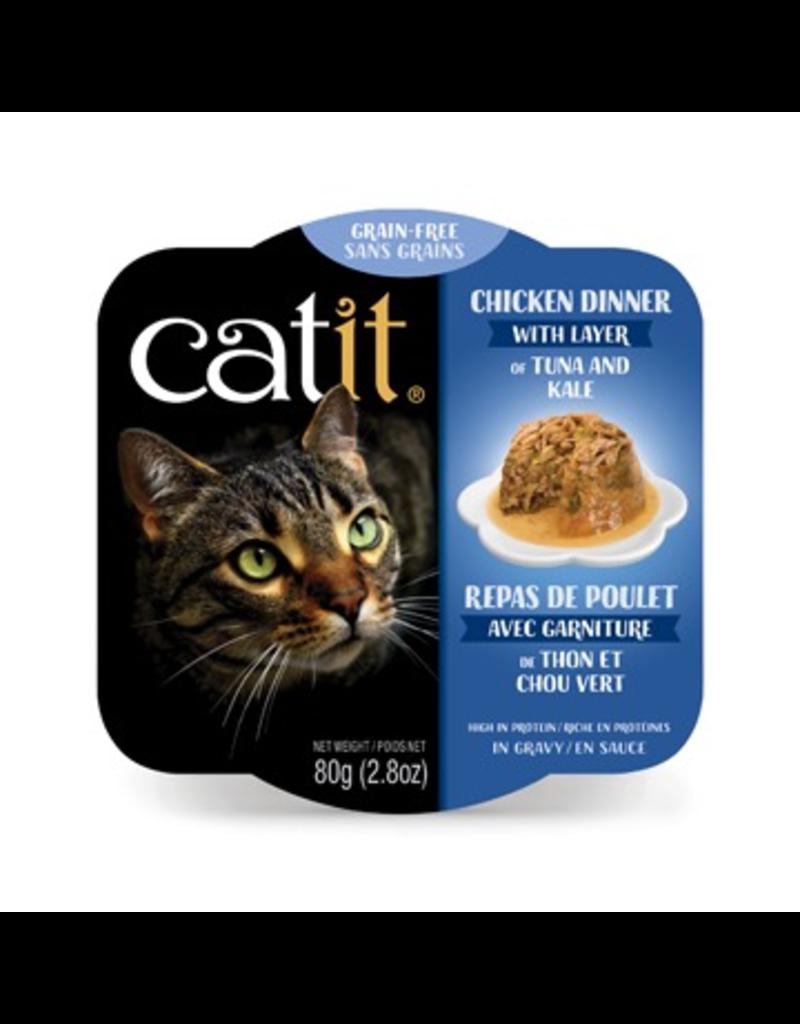 CAT IT Catit Chicken Dinner with Tuna & Kale - 80 g (2.8 oz)