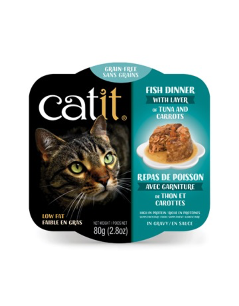 CAT IT (W) Catit Fish Dinner with Tuna & Carrots - 80 g (2.8 oz)