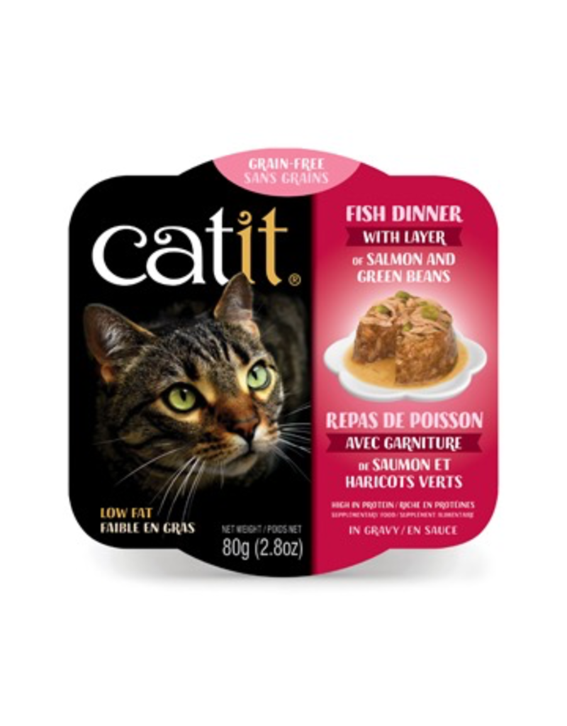 CAT IT (W) Catit Fish Dinner with Salmon & Green Beans - 80 g (2.8 oz)