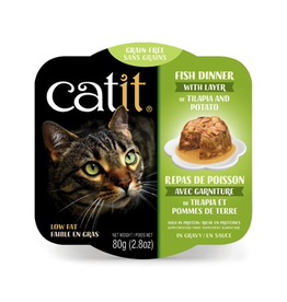 CAT IT (W) Catit Fish Dinner with Tilapia & Potato - 80 g (2.8 oz)