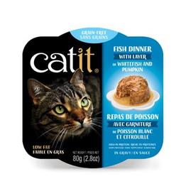 CAT IT Catit Fish Dinner with Whitefish & Pumpkin - 80 g (2.8 oz)