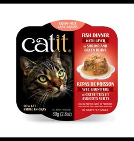 CAT IT Catit Fish Dinner with Shrimp & Green Beans - 80 g (2.8 oz)
