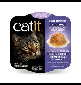 CAT IT Catit Fish Dinner with Crab Flavor & Pumpkin - 80 g (2.8 oz)