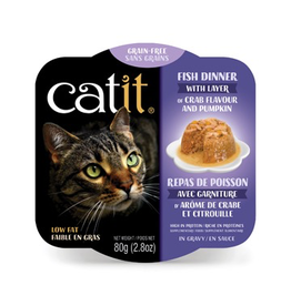 CAT IT (W) Catit Fish Dinner with Crab Flavor & Pumpkin - 80 g (2.8 oz)