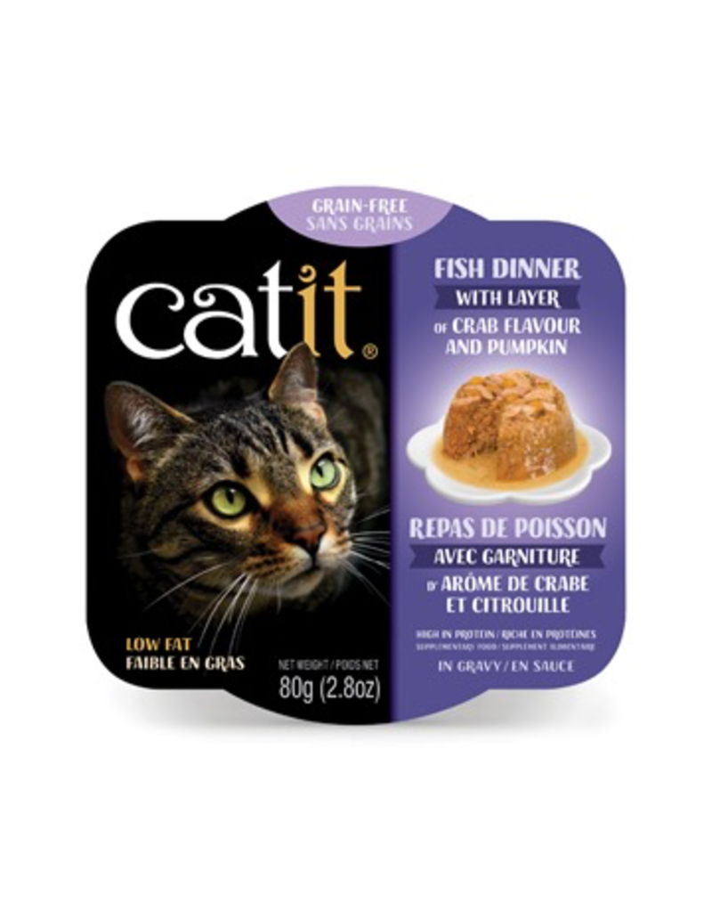 CAT IT Catit Fish Dinner with Crab Flavor & Pumpkin - 80 g (2.8 oz)