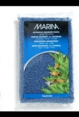MARINA Marina Aquarium Gravel, Blue, 2kg-V